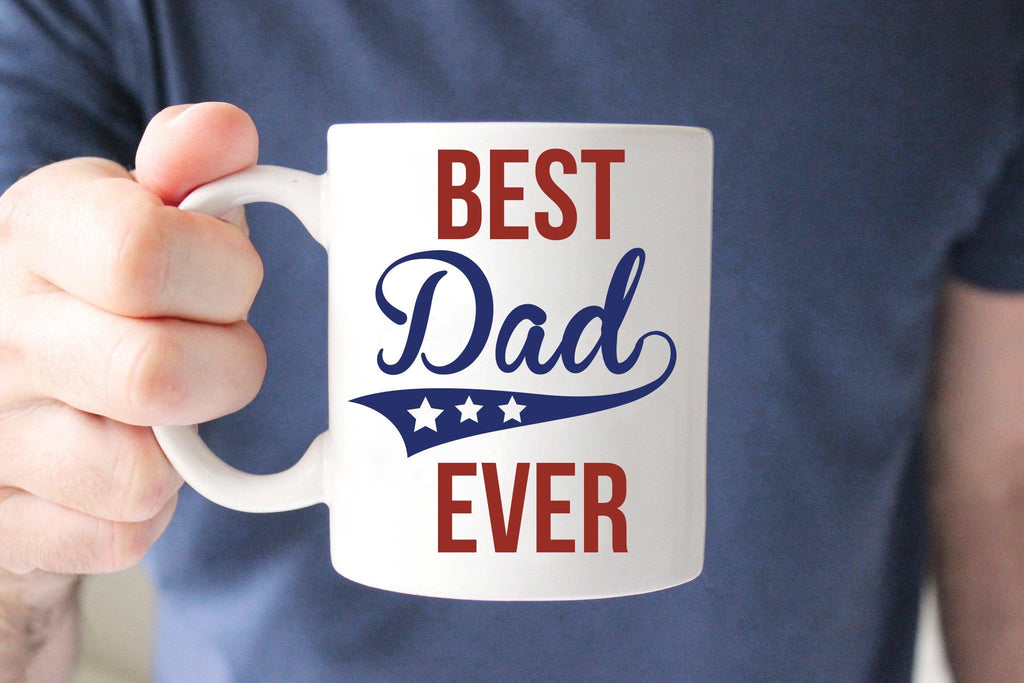 Gift  for Dad  BEST DADDY  EVER  Coffee Mug - By Glacelis®
