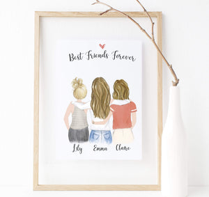 Personalized friendship Wall Art / Always better together - Our awesome Personalized Friendship Wall Art is for the BFFs that you can't live without. Customize this piece to give your friend group the reminder that they are the ultimate besties in your life.