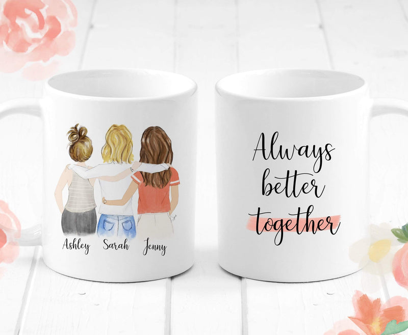 Three Friendship / Always better together - Custom Personalized Gifts for friends, Family & special occasions!