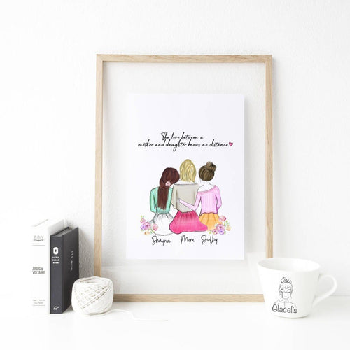 It will remind her of how much she is appreciated and how big of an impact she has made in your life. So make your mothers day by getting her this custom mother and daughter art.