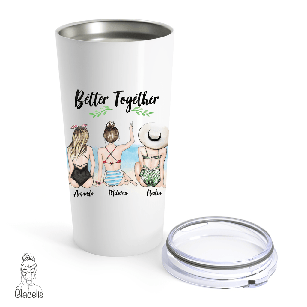 Personalized Best Friend Travel Mug Three Girls