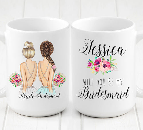 Personalized Bridesmaid Mug / Wedding party gifts
