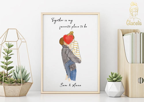 Personalized Couple Wall Art - What better way to say