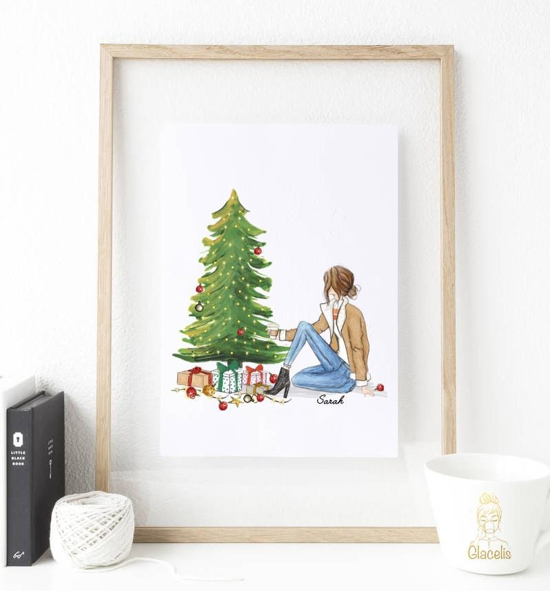 Personalized unique yourself Wall Art for Christmas 2019 - Treat yourself to this personalized wall art for the holidays and Christmas season! The customizable art options will ensure that this one of a kind illustration is the perfect gift during the holidays
