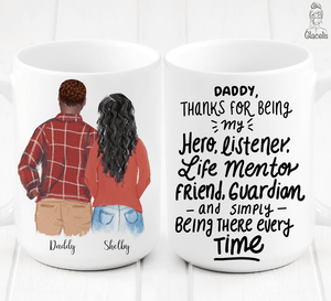 Personalized Daughter and Father Mug