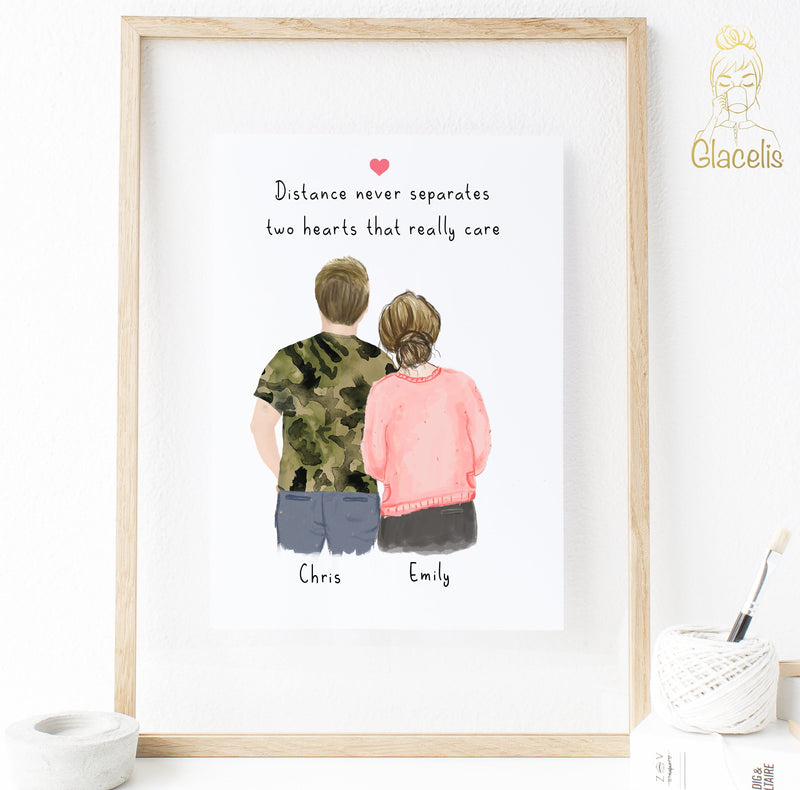 A sentimental piece of art for the perfect anniversary present.