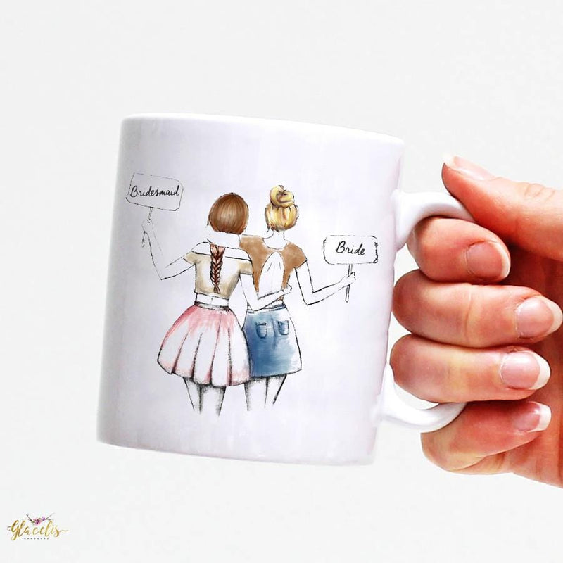 Gift ideas for girlfriend - Unique Friendship gift -  Mug for friend - Custom Personalized Gifts for friends, Family & special occasions!