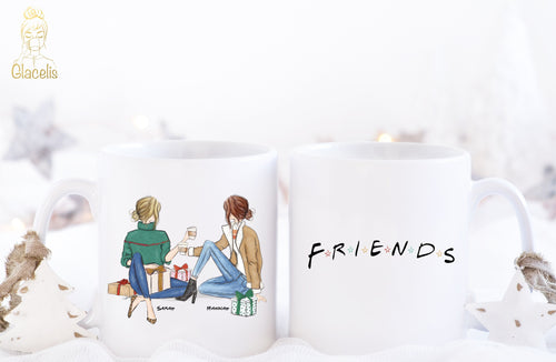 Personalized Friends Mug for Christmas