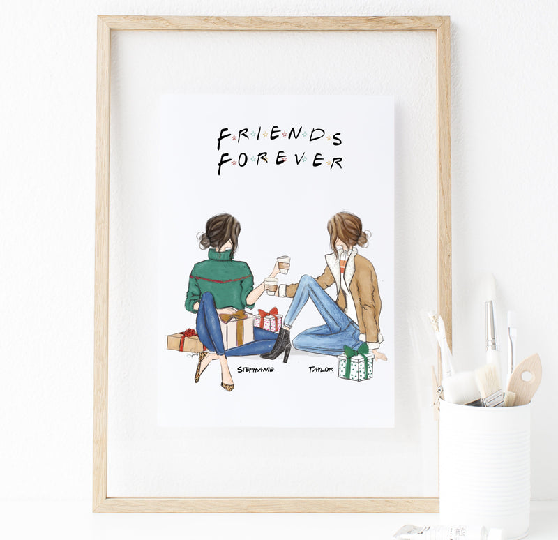 Personalized Friends Wall Art for Christmas 2019 - Custom Personalized Gifts for friends, Family & special occasions!