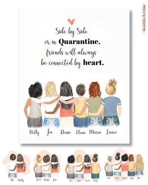 Personalized Friendship Wall Art / Best Friends Forever 4 Women