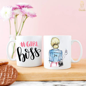 Custom Girl Boss mug - Custom Personalized Gifts for friends, Family & special occasions!