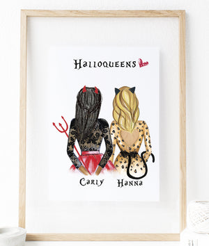 Personalized Halloween Best Friend Wall Art