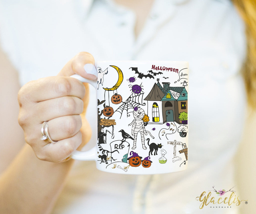 Halloween Mug Collage Funny - By Glacelis® - Custom Personalized Gifts for friends, Family & special occasions!