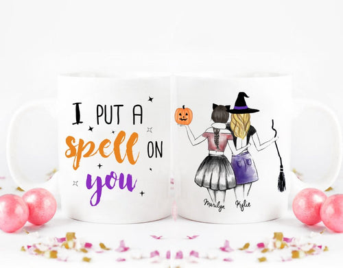 Personalized Coffee Mug for best friends for halloween