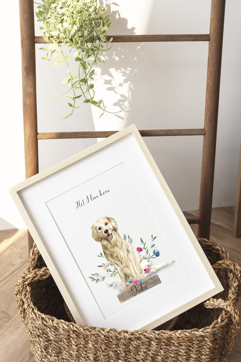 Personalized, Unique, Custom Dog Portrait- special for dog owners and pet lovers
