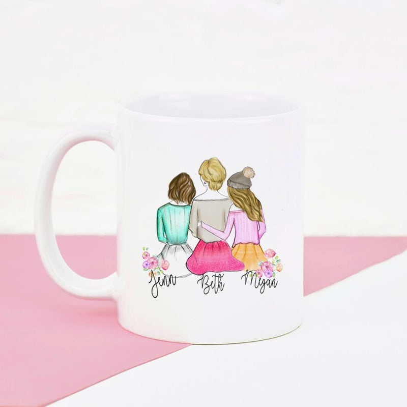 Personalized mug for Mom and Daughter - Custom Personalized Gifts for friends, Family & special occasions!