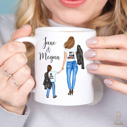 Personalize Mom and Kid Mug and Wall art