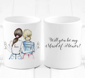 Personalized Will You Be My Maid of Honor? - Custom Personalized Gifts for friends, Family & special occasions!