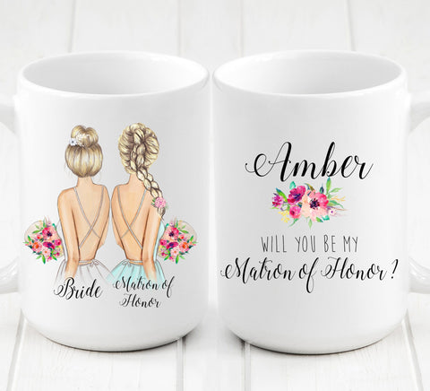 Personalized Maid of Honor Mug / Wedding party gifts