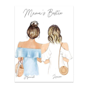 Mama's Bestie Print Art or Mug - Custom Personalized Gifts for friends, Family & special occasions!