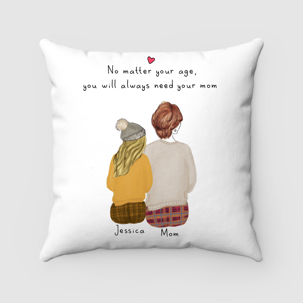 Mother and daughter Pillow