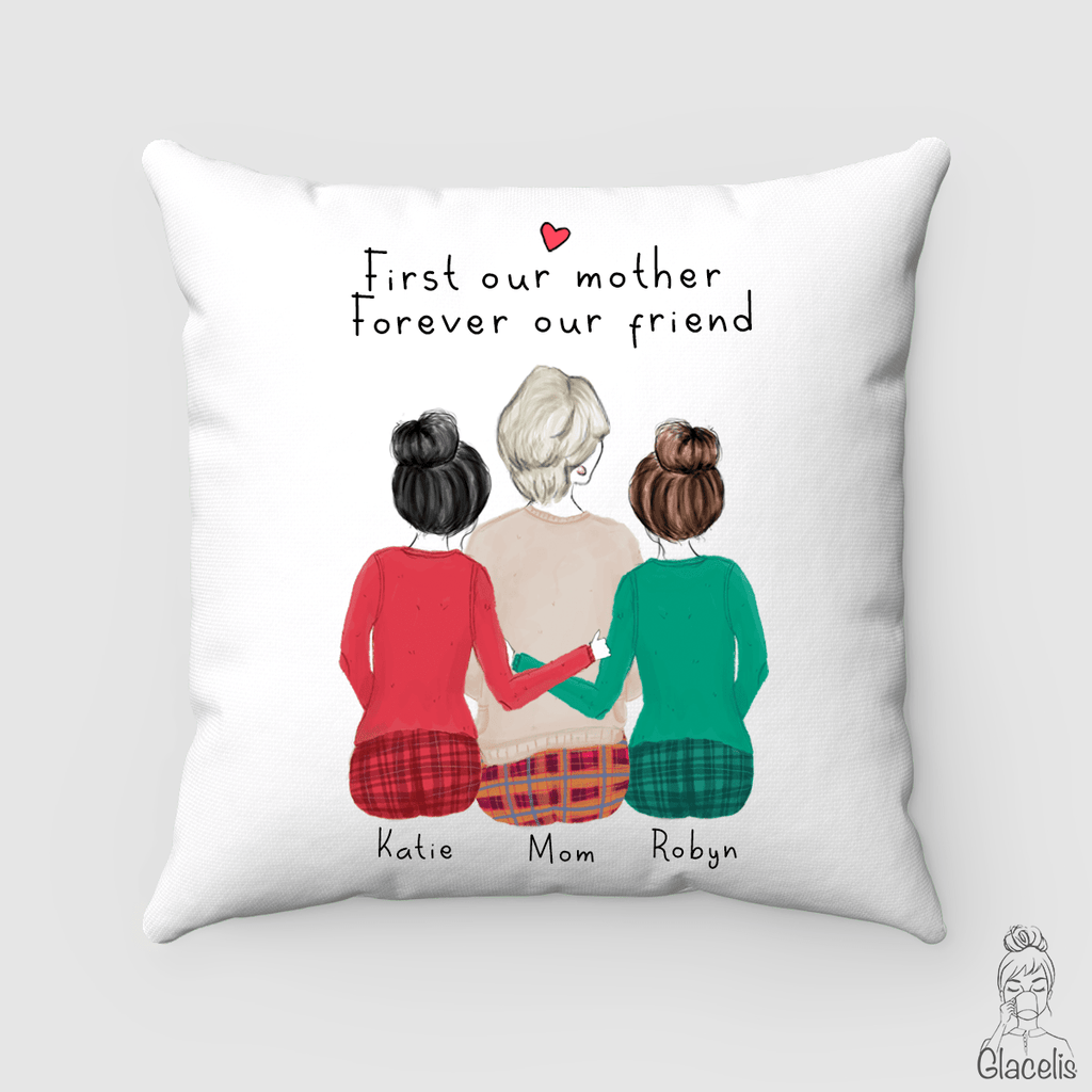 Mother and two daughters Pillow