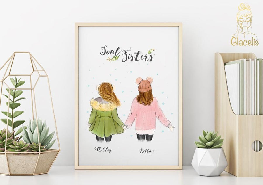 Personalized friendship Wall Art