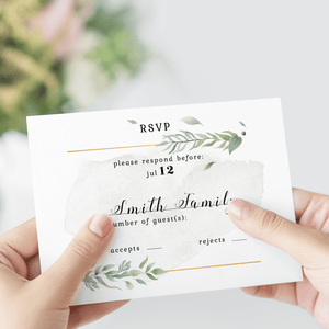 Personalized Wedding RSVP