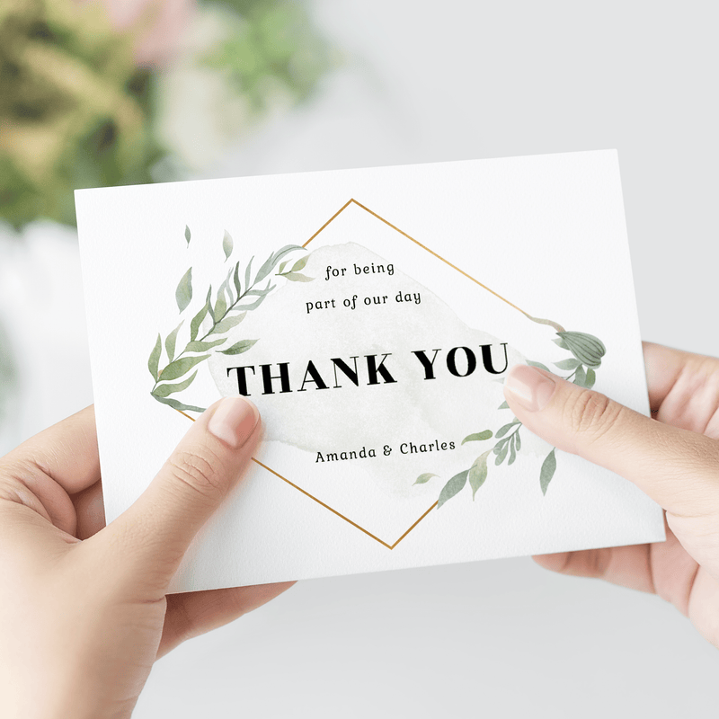 Personalized Wedding Thank You