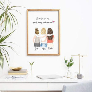 Personalized friendship Wall Art / Always better together - Custom Personalized Gifts for friends, Family & special occasions!