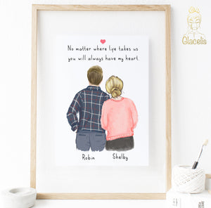 Personalized Anniversary Print Art