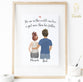 "Personalized Father and Daughter Print art - To tell your Dad how much he means to you gift him this customized Father and Daughter print. Say ""I love you"" to the man that means the world to you at Glacelis"