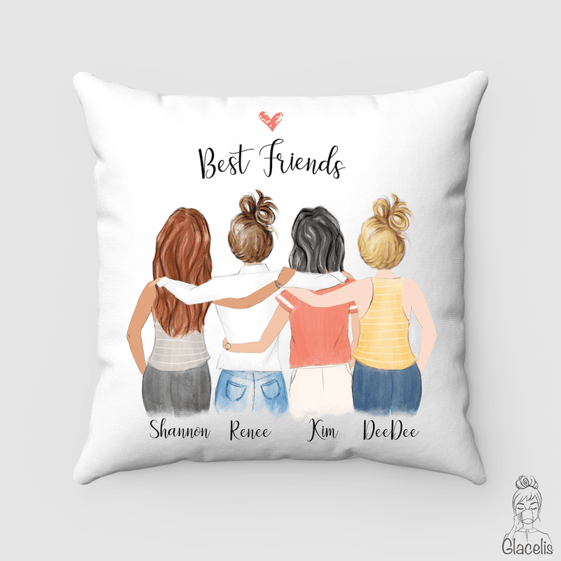Four Best Friends Pillow