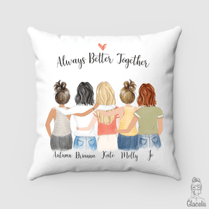 Five Best Friends Pillow