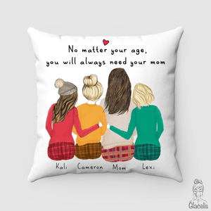 Mother and three daughters Pillow