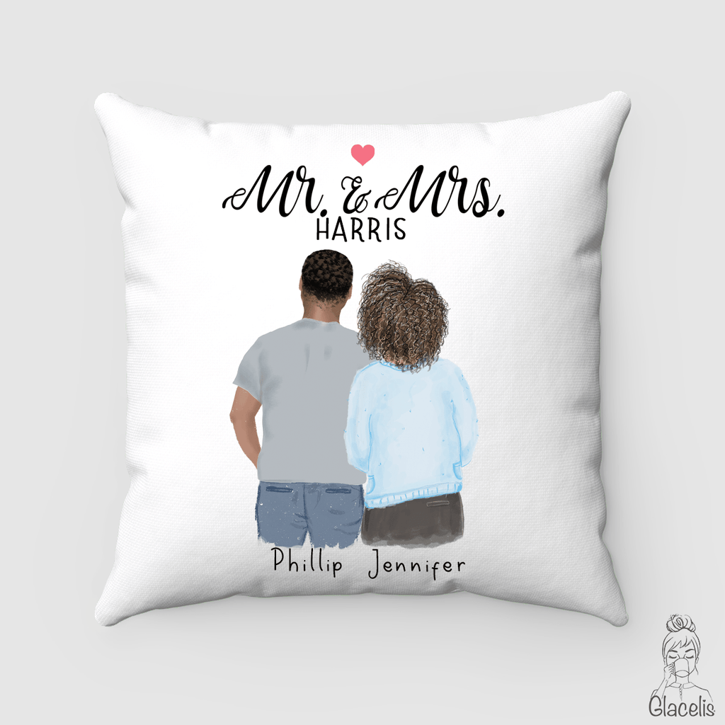 Mr and Mrs Anniversary Pillow