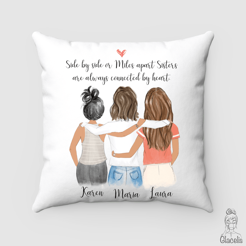 Three Best Friends Pillow