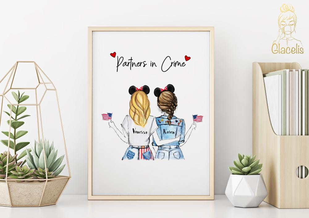 Personalized Partners in Crime  Wall Art