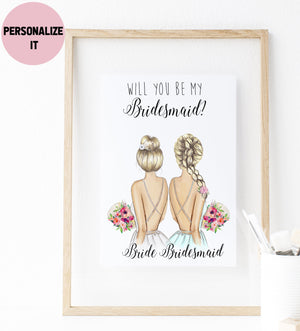 Personalized Wall Art Will you be my Matron of Honor ? - Custom Personalized Gifts for friends, Family & special occasions!