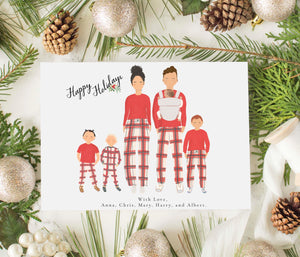 Personalized Family Christmas Greeting Cards