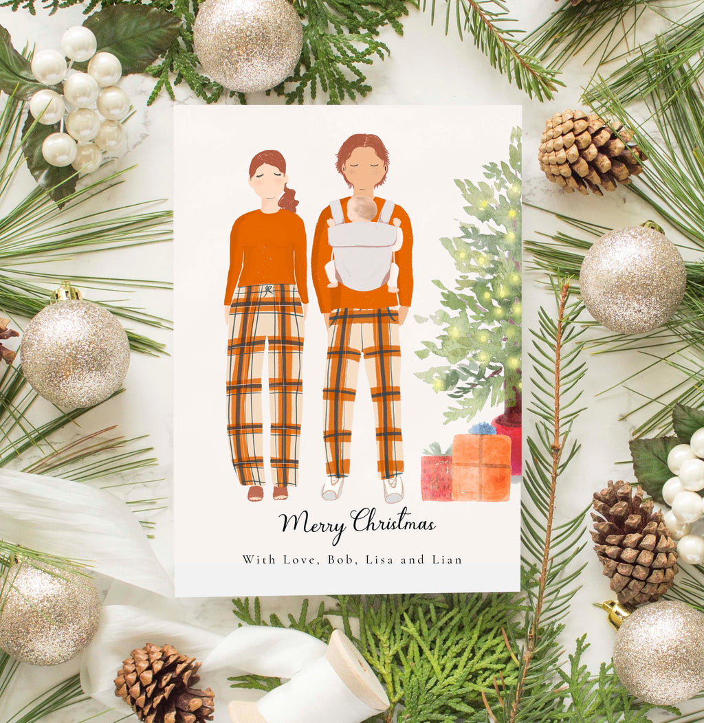 Personalized Couples Family  Christmas Greeting Card