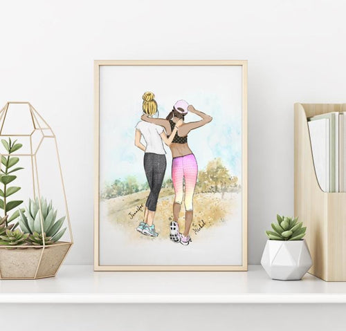 Personalized best friends fitness girls - Custom Personalized Gifts for friends, Family & special occasions!