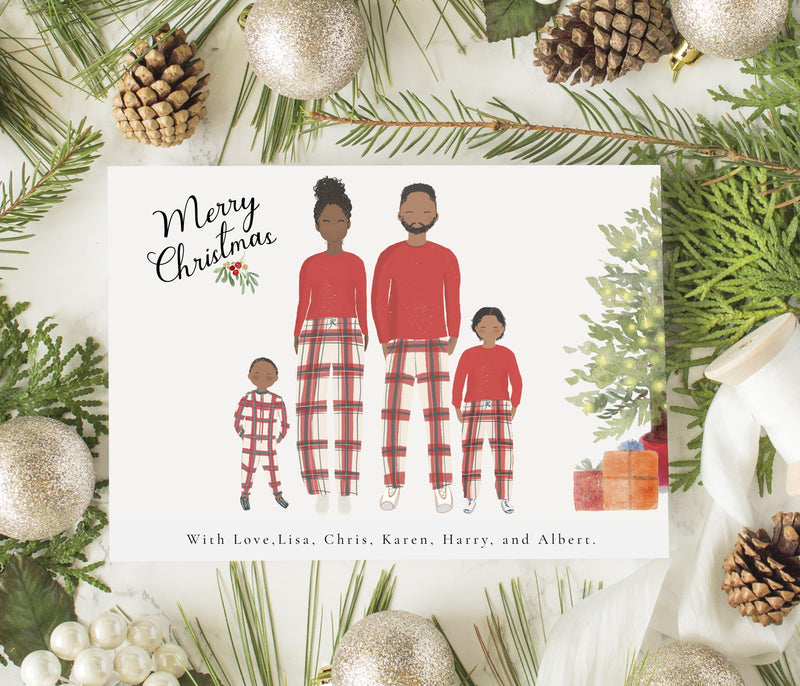 personalized family christmas greeting cards family up to five glacelis personalized family christmas greeting cards family up to five