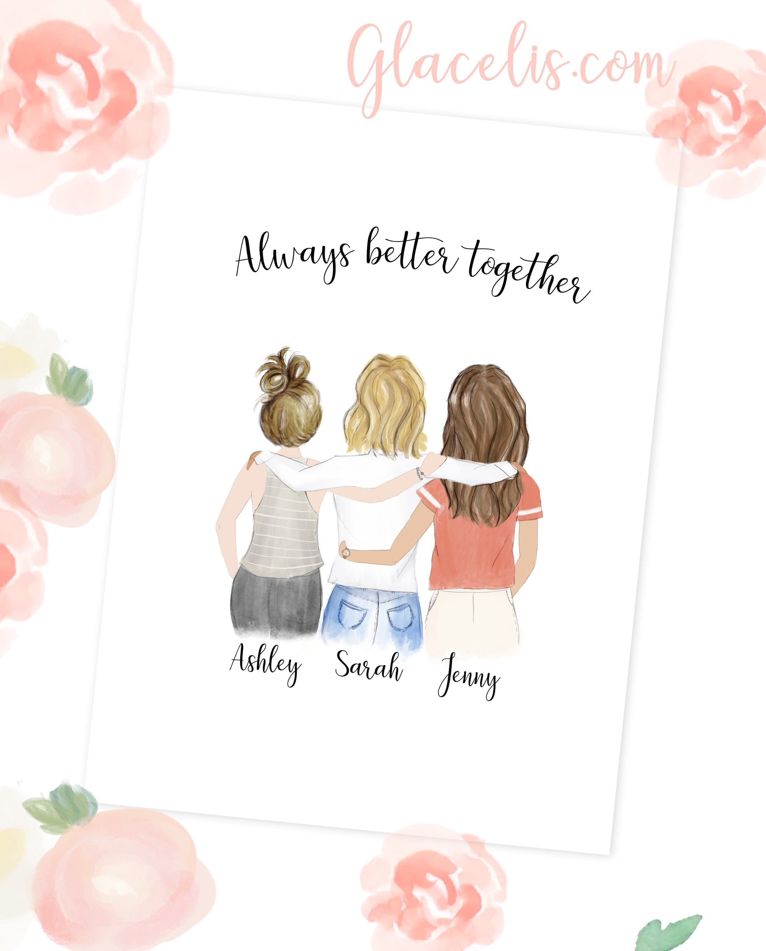 personalized friendship wall art always better together reviews