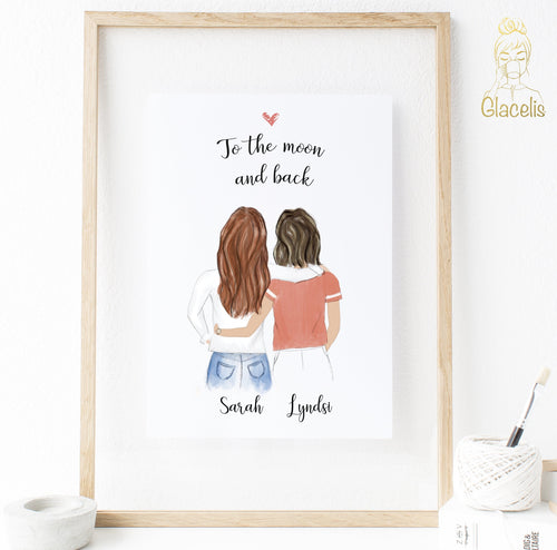 LGBT print art for women couples custom