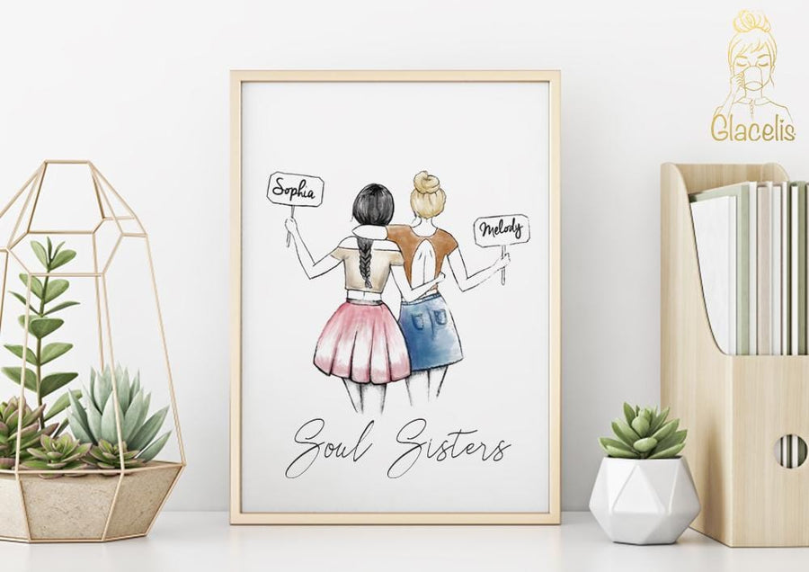 Personalized Soul Sisters Wall Art