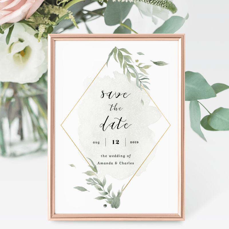 Personalized Wedding Save the Date
