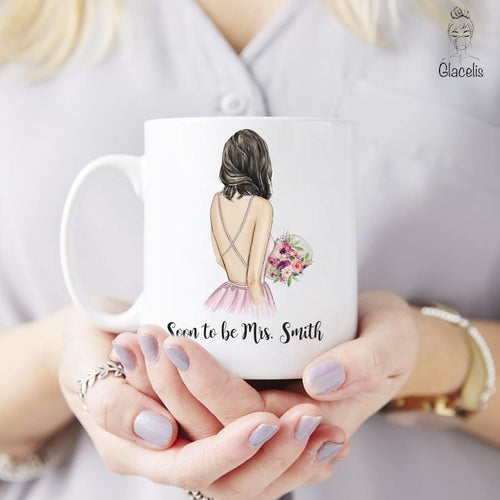 Great gift for Soon To Be Mrs - Personalized Mrs Coffee Mug