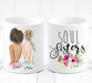Best Friend Gift - Soul Sisters - Unique Friendship Gift on Mug - By Glacelis® - Custom Personalized Gifts for friends, Family & special occasions!