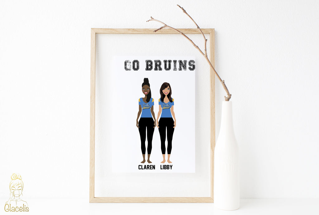 University Team Print Art - For the sports fan in your life: represent the university team that you're rooting for this season! This University Team Print Art piece showcases the dedicated sports fan and their university of choice